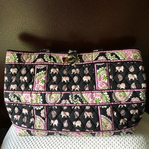Vera Bradley Small Retired Pink Elephant Tote